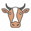 animal, beef, cow, domestic, farming, meat, milk icon