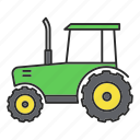 agriculture, farm, farming, machine, machinery, tractor, vehicle icon