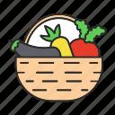 basket, beet, carrot, farming, food, organic, vegetable