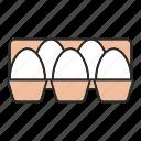 box, chicken, egg, farming, food, hen, tray