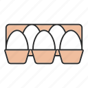 box, chicken, egg, farming, food, hen, tray icon