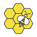 apiary, bee, beekeeping, farming, honey, honeybee, wasp icon