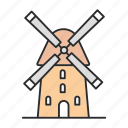 agriculture, farming, flour, grain, mill, wheat, windmill icon