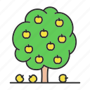 apple, farming, fruit, garden, park, plant, tree icon
