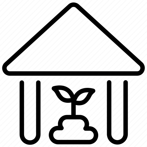 grow, house, leaf, nursery, plant plant, sow, structure icon