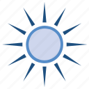 brightness, hot weather, summer, sun, sunlight, sunny icon