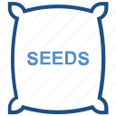 agriculture, farm, farming, seeds, suck icon