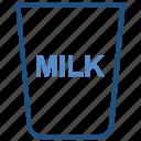 agriculture, drink, farm, farming, glass, milk icon