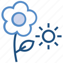 agriculture, farming, flower, garden, sun, weather icon
