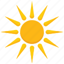 brightness, hot weather, summer, sun, sunlight, sunny icon