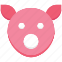 agriculture, animal, animal face, cattle, farming, pig icon