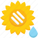 drop, farming, flower, garden icon