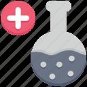 farming, flask, plus, test tube, tube icon