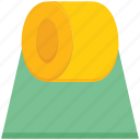 agriculture, bale, farm, farming, hay, roll, straw icon