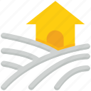 agriculture, farm, farm house, farming, landscape icon