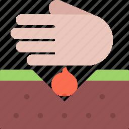 agriculture, farm, farmer, garden, onion, seeding icon