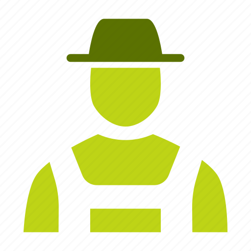 agriculture, avatar, character, costume, farmer, man, person icon