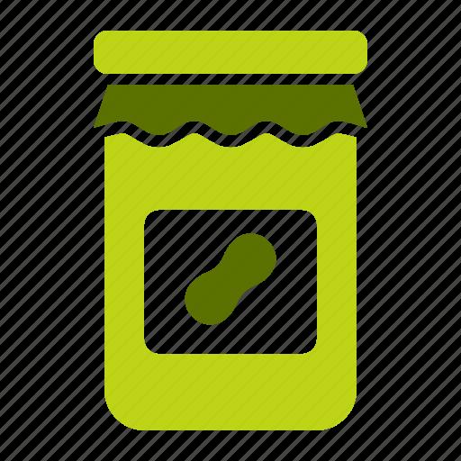 bottle, butter, gourmet, groundnut, jar, peanut, produce icon