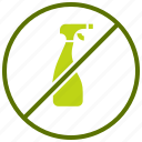 chemical, free, hormone, non gmo, organic, pesticide, prohibited icon