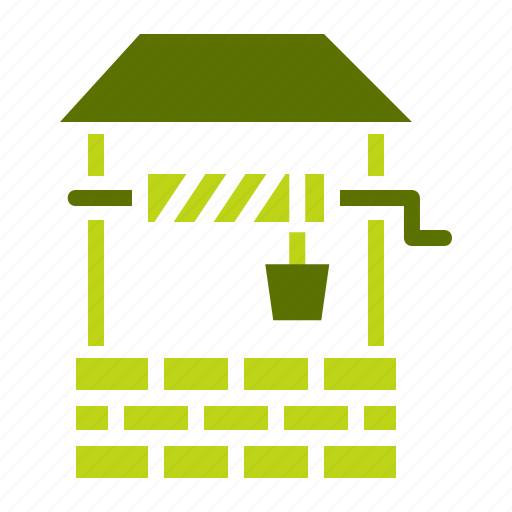 agriculture, draw, farm, farming, rural, water, well icon