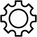 cogwheel, gear, gearwheel, options, settings icon