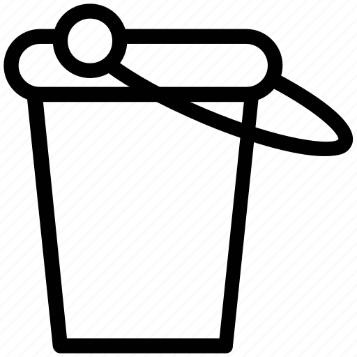 bucket, container, housework, pail, pot, water icon