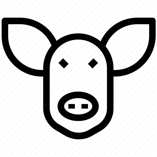 agriculture, animal, cattle, face, pig icon