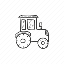 agronomy, industry, tractor icon