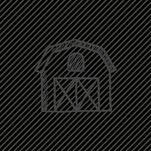 barn, farm, house, land, shed, storage icon