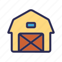 agricultural, barn, build, farm, farmland icon