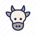 animal, beef, cattle, cow, heat icon