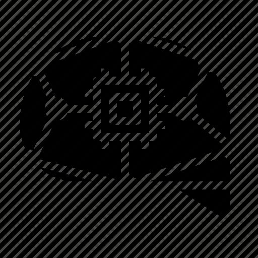 ai, chip, cpu, electronic, processor, technology icon