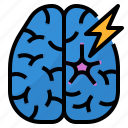 brain, cell, damage, particulate icon