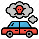 car, carbon, monoxide, pollution, smoke icon