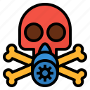 danger, harmful, mask, skull