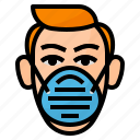 dust, mask, particulate, pm icon