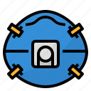 mask, n95, particulate, pollution icon