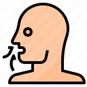 breath, mouth, nose, pollution icon