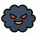 air, particulate, pollution, smoke icon