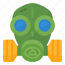 gas, mask, protect, toxic icon