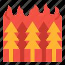 burn, pollution, smoke, wildfire icon