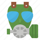 gas, mask, pollution, toxic icon