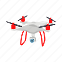 air, drone, quadrocopter, transport, vehicle icon