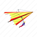 air, hang glider, transport, vehicle, wing