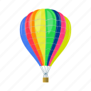 air, balloon, transport, vehicle icon
