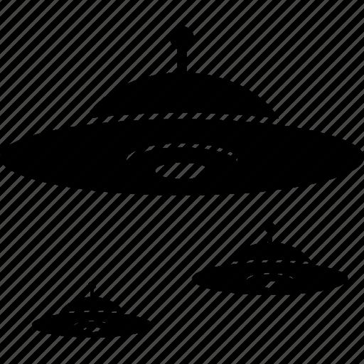 alien, flying saucer, invader, ufo icon
