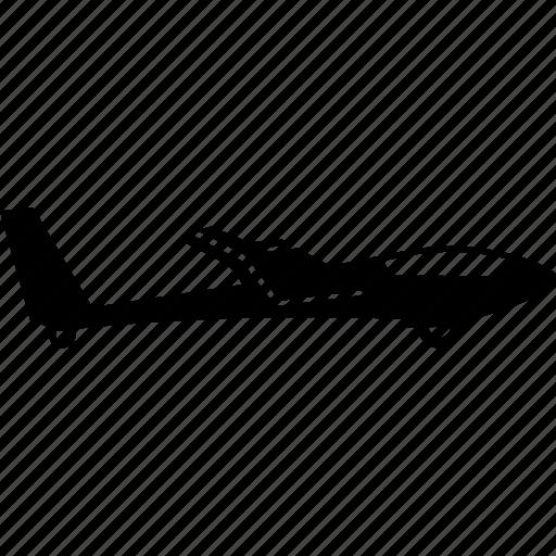 aeroplane, airplane, gliding, lightweight, personal, plane, small icon