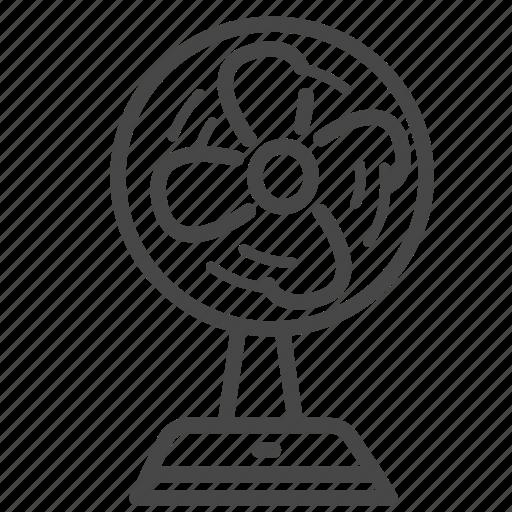 air, blow, electronic, fan, flow, propeller, wind icon