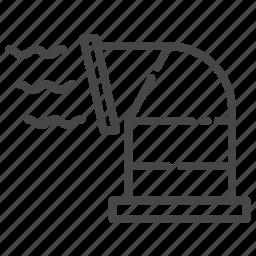 air, chimney, tunnel, ventilate, ventilation, ventilators icon