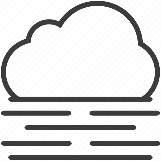 cloud, fog, weather icon